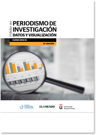 Folleto periodismo datos visualización