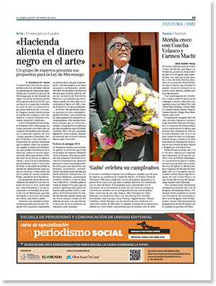 Publicidad prensa Escuela Unidad Editorial