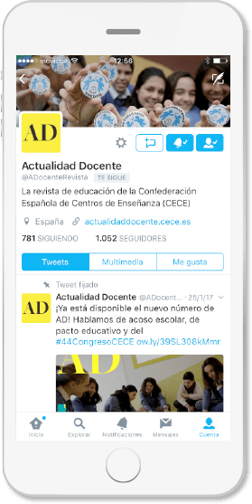 Twitter Actualidad Docente