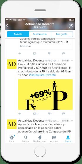 Publicación twitter revista digital