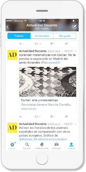 Redes sociales Twitter Actualidad Docente