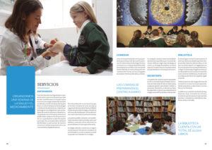 Diseño folleto Kensington School