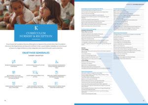 Diseño folleto corporativo colegio Kensington
