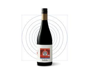 Diseño marca botella vino