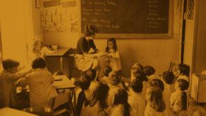Foto antigua aniversario colegio
