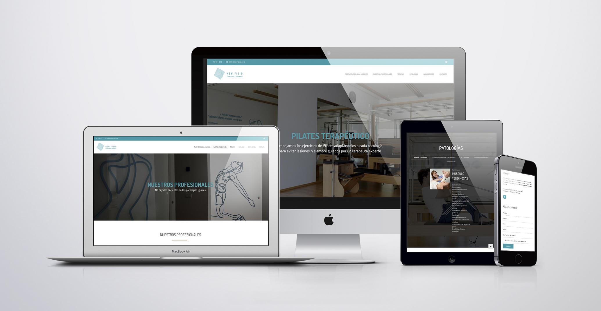 Diseño web clinica Madrid