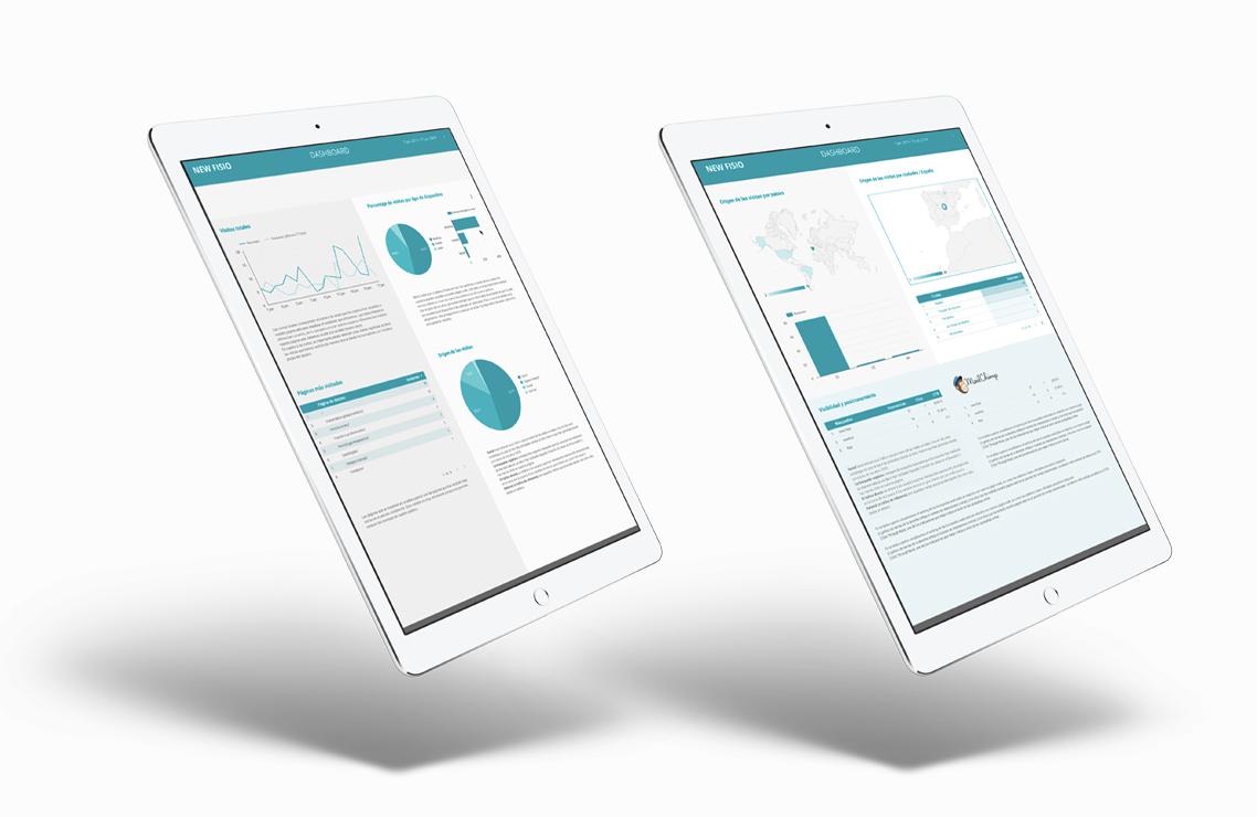 dashboard de analítica para clínica en madrid