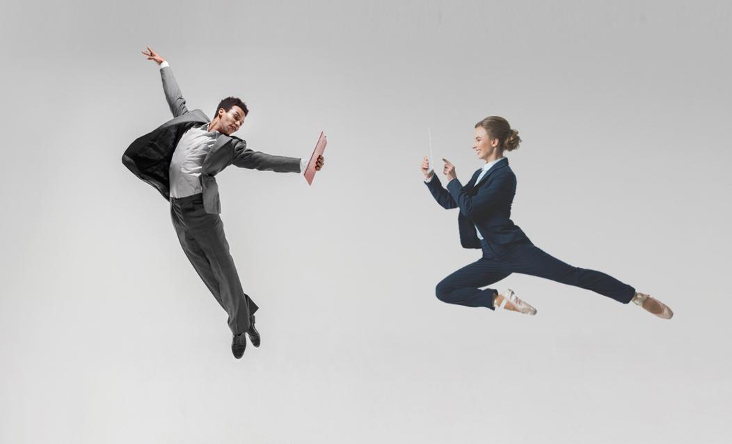 empresarios volando