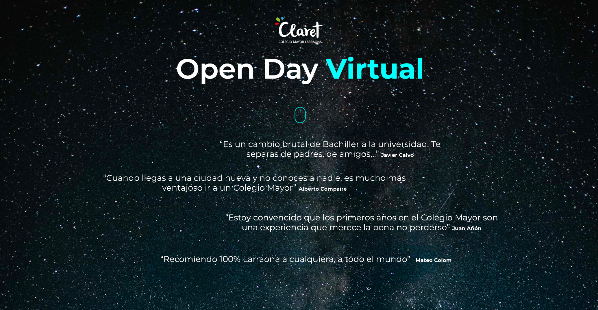 Diseño Open Day Virtual
