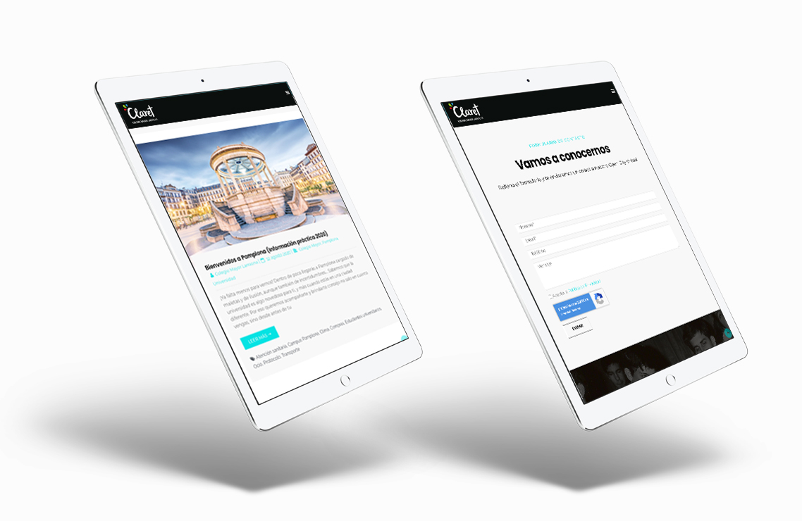 diseño web responsive en tablet