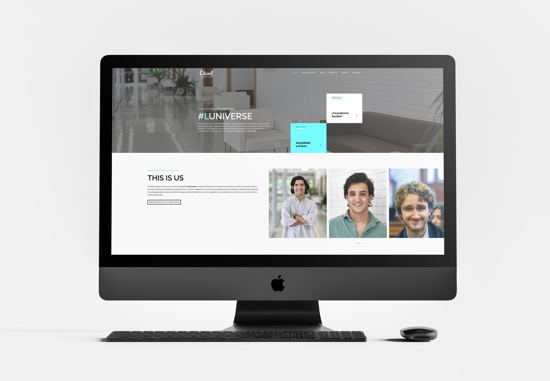 Página de inicio web universitaria