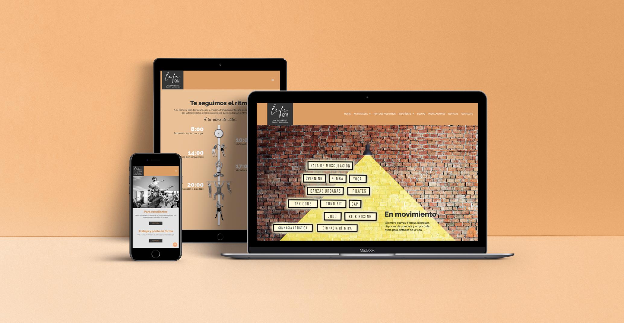 diseño web para un gimnasio