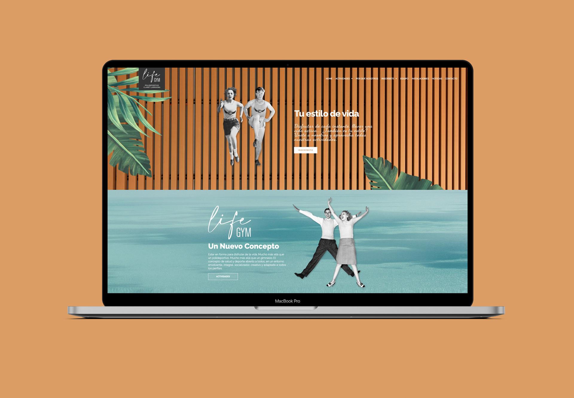 diseño web interactiva gimnasio
