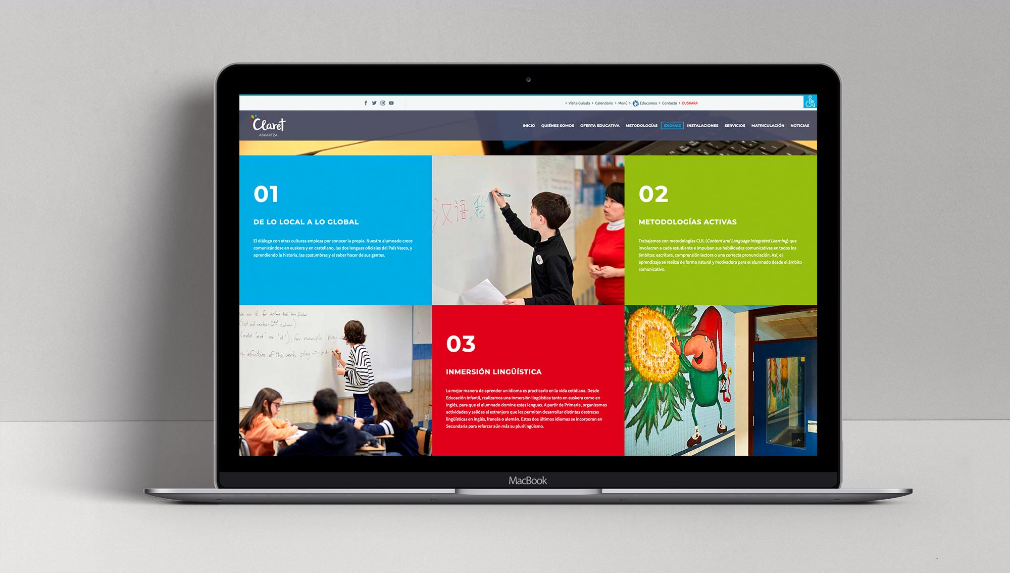 rediseño página web de un colegio
