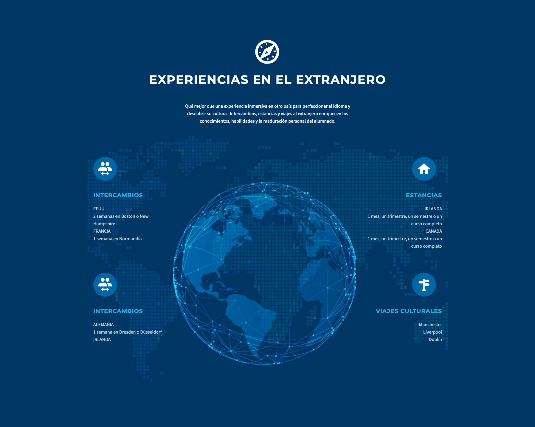 Diseño de mapa en la web de un colegio