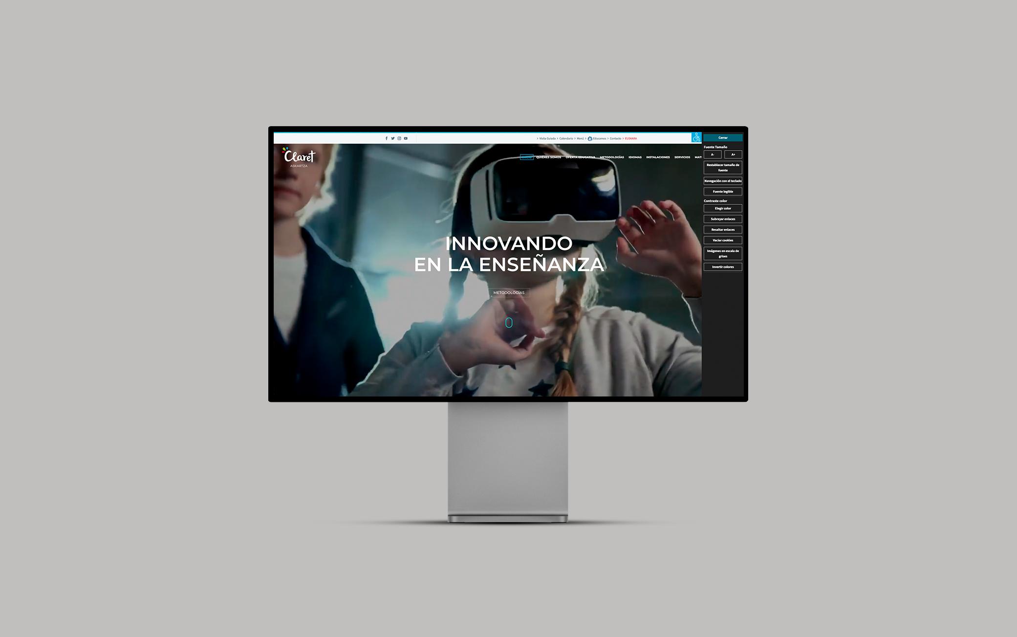 diseño de la página web de un colegio