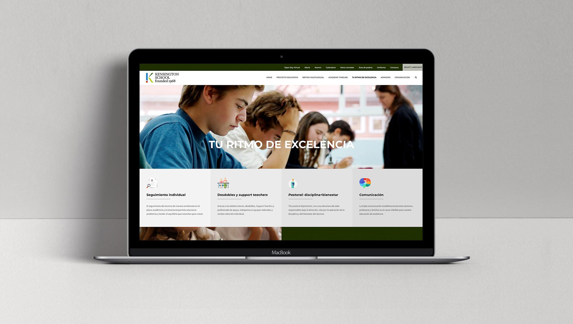página web escolar
